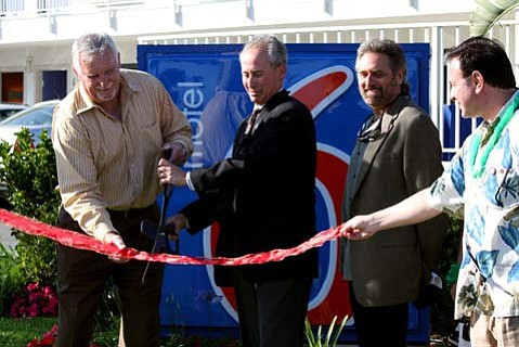Grand reopening of the chain's original location showcases higher-tech, greener features.