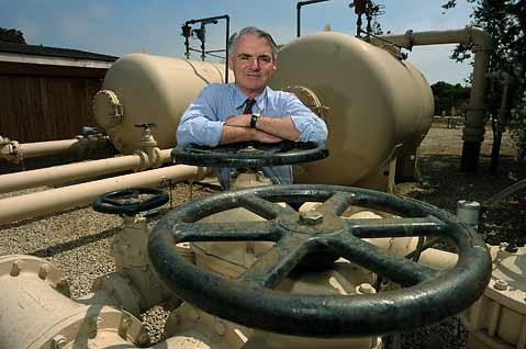 "<strong>Hot water:</strong>  With rising capital improvement costs related to increasingly stringent federal drinking water standards, Carpinteria Valley Water District General Manager Charles Hamilton called his agency's budget ""austere."""