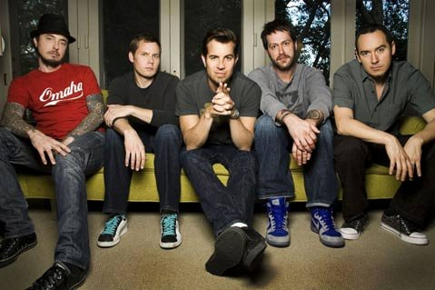 311 are (from left to right); Tim Mahoney, Chad Sexton, Nick Hexum, Aaron Willis, and S.A. Martinez.