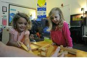 Harding preschoolers Haven Wennerstrom & Pearl Stadler