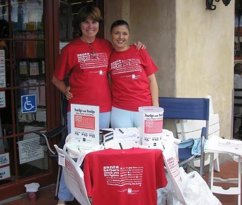 AIGA development director Patty Driskel (left) and chapter vice president Eva Gutierrez.