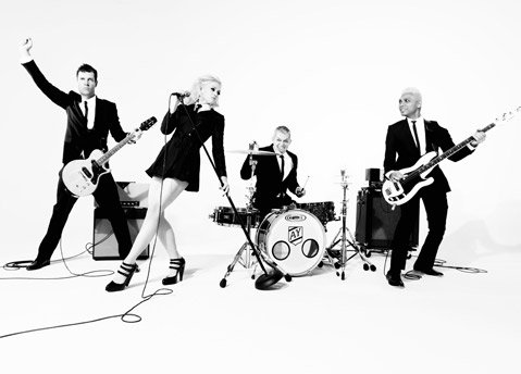 No Doubt (from left: Tom Dumont, Gwen Stefani, Adrian Young, and Tony Kanal) will play the S.B. Bowl as part of their first tour in more than five years.