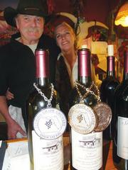 Larry and Karina Hogan serve great food as a means of selling their award-winning wines.