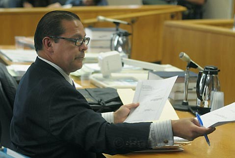 Gil Armijo defending himself in court against perjury charges on 6/19/09
