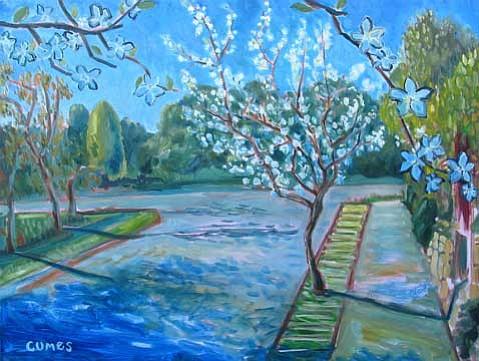 "Paul Cumes' ""Pear Tree Blossoms""."