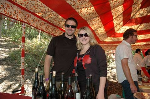 Sarah Hunt, the former Beckmen tasting room manager, and her husband, Matthew Hunt, at a previous fest.