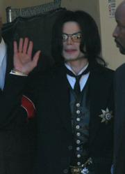 Michael Jackson in March, 2005