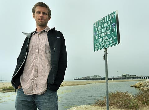 <strong>A RUNOFF REALITY:</strong>  Twice in recent months, Santa Barbara Channelkeeper's Ben Pitterle has come across illegal plumbing hookups sending what we flush straight into creeks and storm drains. A recent Santa Barbara city-funded study confirms that unknown amounts of human waste is finding its way into the Laguna Lagoon near Stearns Wharf.