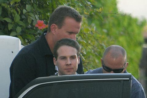 Jesse James Hollywood leaves the Santa Barbara Superior Courthouse in custody  July 1, 2009 as the jury begins its deliberation kidnapping and murder charges.