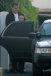 Jesse James Hollywood leaves the Santa Barbara Superior Courthouse in custody  July 1, 2009 as the jury begins its deliberation on kidnapping and murder charges.