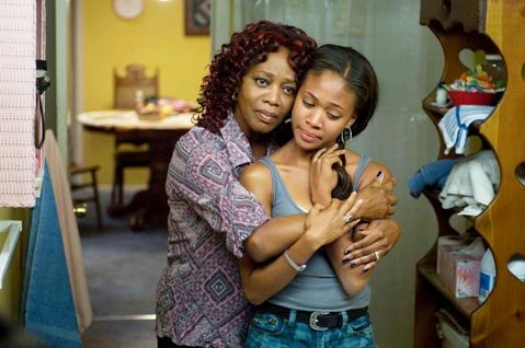 Alfre Woodard as Alma Roberts and Nicole Beharie as Dee Roberts in Samuel Goldwyn Films' <em>American Violet</em>.