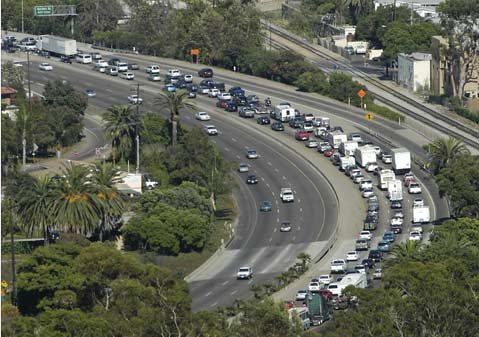 Traffic on the 101.