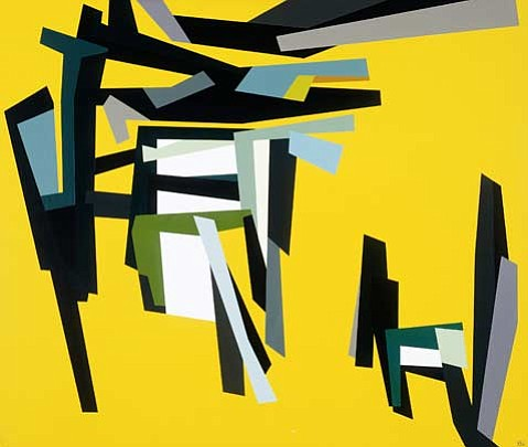 Karl Benjamin, F.S. #1, 1961 Oil on canvas Courtesy Santa Barbara Museum of Art.