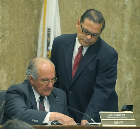 Santa Barbara County 5th District Supervisor Joe Centeno (left) with assistant Gil Armijo