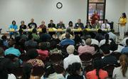 Santa Barbara City Council candidates in the Franklin Community Center for the PUEBLO sponsored forum on July 23, 2008