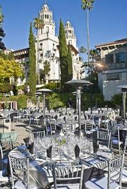 The setting for the KCBX Wine Classic's dinner event certainly wasn't lacking in elegance and ambiance-it was situated at Hearst Castle at sunset.