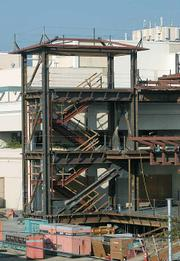 Construction at Cottage Hospital.