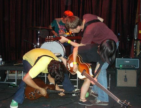 The San Francisco band Deerhoof delivered an excellent set of experimental madness on Thursday night.