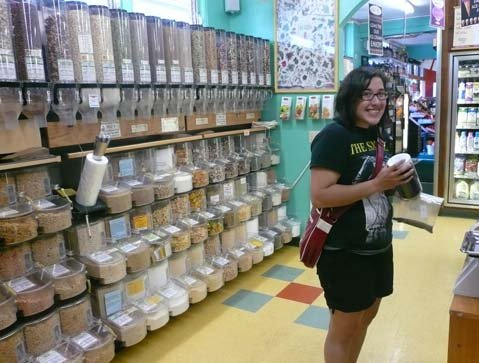 Stocking up:  The I.V. Food Co-Op has a wide variety of bulk items.