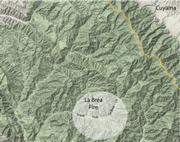 Map shows the south fork of La Brea Canyon in more detail. The Sierra Madre Ridge is highlighted to the north.