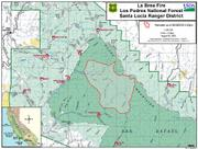 La Brea Fire perimeter, as of 4pm August 9, 2009