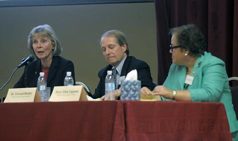 Left to right Lois Capps, Dr. Edward Bentley and Joyce Ellen Lippman