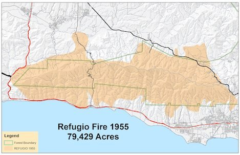 Refugio Fire was Santa Barbara's first modern-day front country fire, covering the SY Mtns from Gaviota to San Marcos Pass. This is the first of a series of stories on our historical fires.