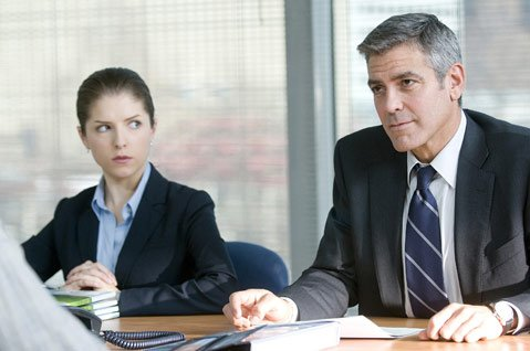 The arrival of Natalie Keener (Anna Kendrick) complicates Ryan Bingham's (George Clooney) 