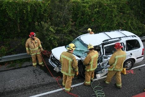 The aftermath of the wrong-way accident on 101 on September 23, 2009.