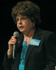 Cathie McCammon is the one Democratic exception to the group of conservative Republicans otherwise favored by Van Wolfswinkle.