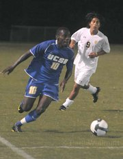 UCSB's Machael David advances on the ball