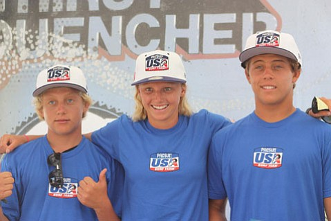 (L to R) Parker Coffin, Lakey Peterson and Conner Coffin