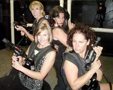 Laser tag ladies night out.