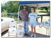 Cleanup organizer, Liz La Rovere, along with John Shields and his son Liam Shields. They organized and worked on the cleanup.
