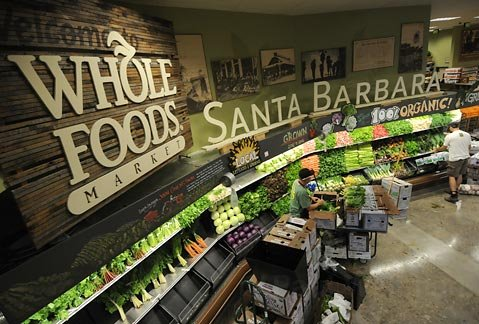 Whole Foods produce section