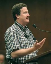 <strong>SHOWDOWN:</strong> COLAB Executive Director Andy Caldwell  lashed out against the county's tacit embrace of managed retreat at Goleta Beach, suggesting resistance to the Coastal Commission's decision.