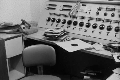 The original KCSB mixing board.