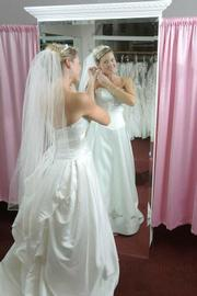 Pismo Beach's Amanda Martin found the perfect dress for her October wedding at Anna Maria's Bridal Boutique.