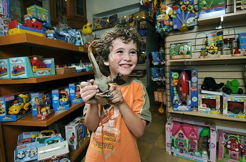 Kernohan's Toys has a big fan in 5-year-old Lucas.