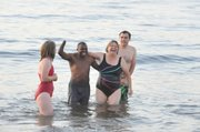Frederick joined SBMS students and teachers for an early morning ocean swim.