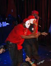 Wu-Tang Clan's Cappadonna (left) provides some much-needed backup to Ghostface Killah's (right) Saturday-night performance at Velvet Jones.