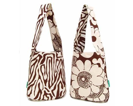 Green Girl's reversible canvas eco-tote in Carolina chocolate (retails for $55).