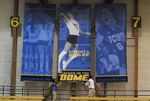 """Former Gaucho volleyball great Roberta Gehlke, is the first """"Legend of the Dome."""""""