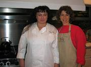 Food from the Heart chef Robin Monroe (left) and founder Evelyn Jacobs