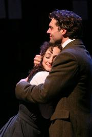 Megan McGinnis & Robert Adelman Hancock in <em>Daddy Long Legs</em> at Rubicon Theatre.