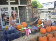 Pumpkin-carving at the Isla Vista Food Co-op's Country Fair.