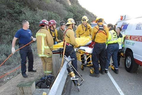 The Santa Barbara County Fire Department responded just before 7:30 a.m.