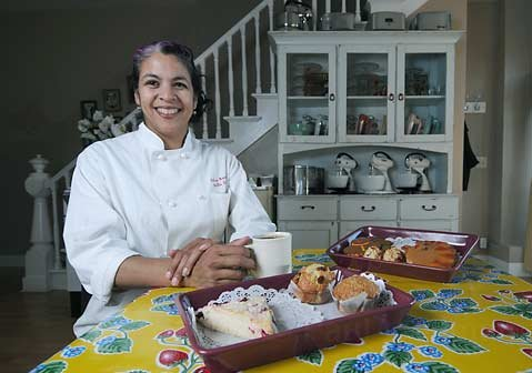 Bella Dolce has a new bakery location on De la Guerra, and owner Eileen Randall Cook happily celebrates the realization of her longtime dream.