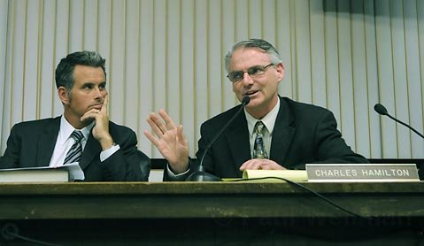 Carpinteria Valley Water District General Manager Charles Hamilton (right)