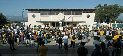 Students rally to save the ESS program at UCSB